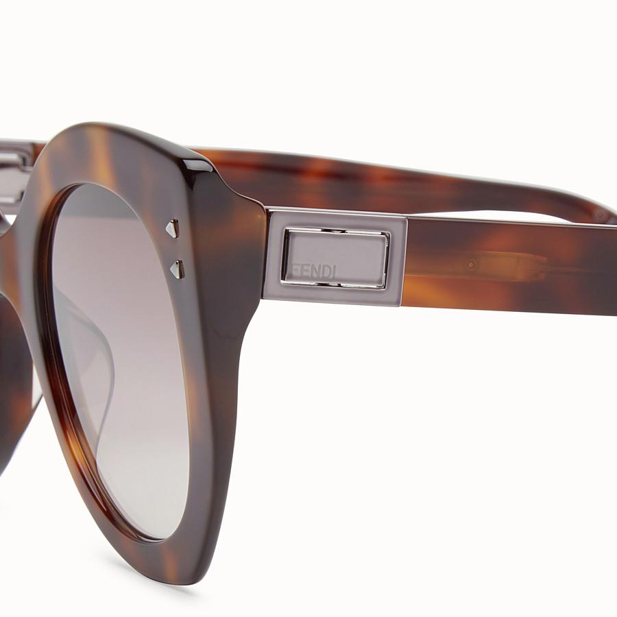 FENDI PEEKABOO - 琥珀棕色太陽眼鏡 - view 3 detail