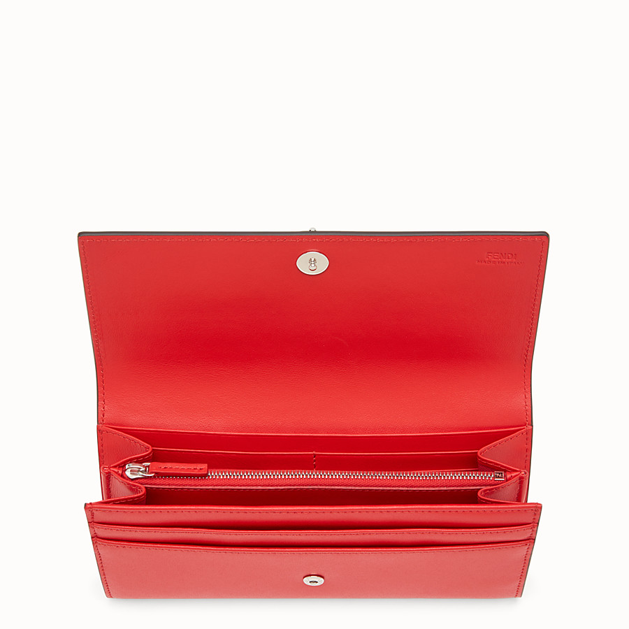 FENDI CONTINENTAL - Flame-red leather continental wallet - view 4 detail