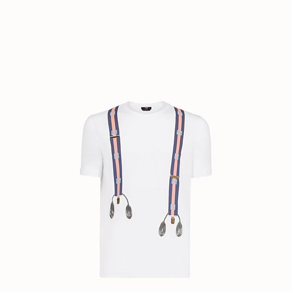 FENDI T恤 - 白色棉質T恤 - view 1 小型縮圖