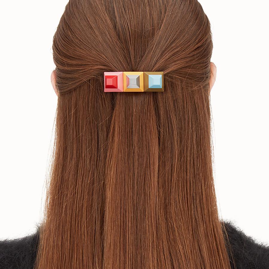 FENDI RAINBOW HAIR CLIP - Clip with multicolour studs - view 2 detail