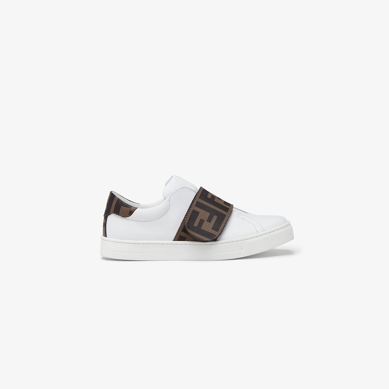 FENDI SNEAKERS - Nappa leather unisex junior sneakers - view 1 detail