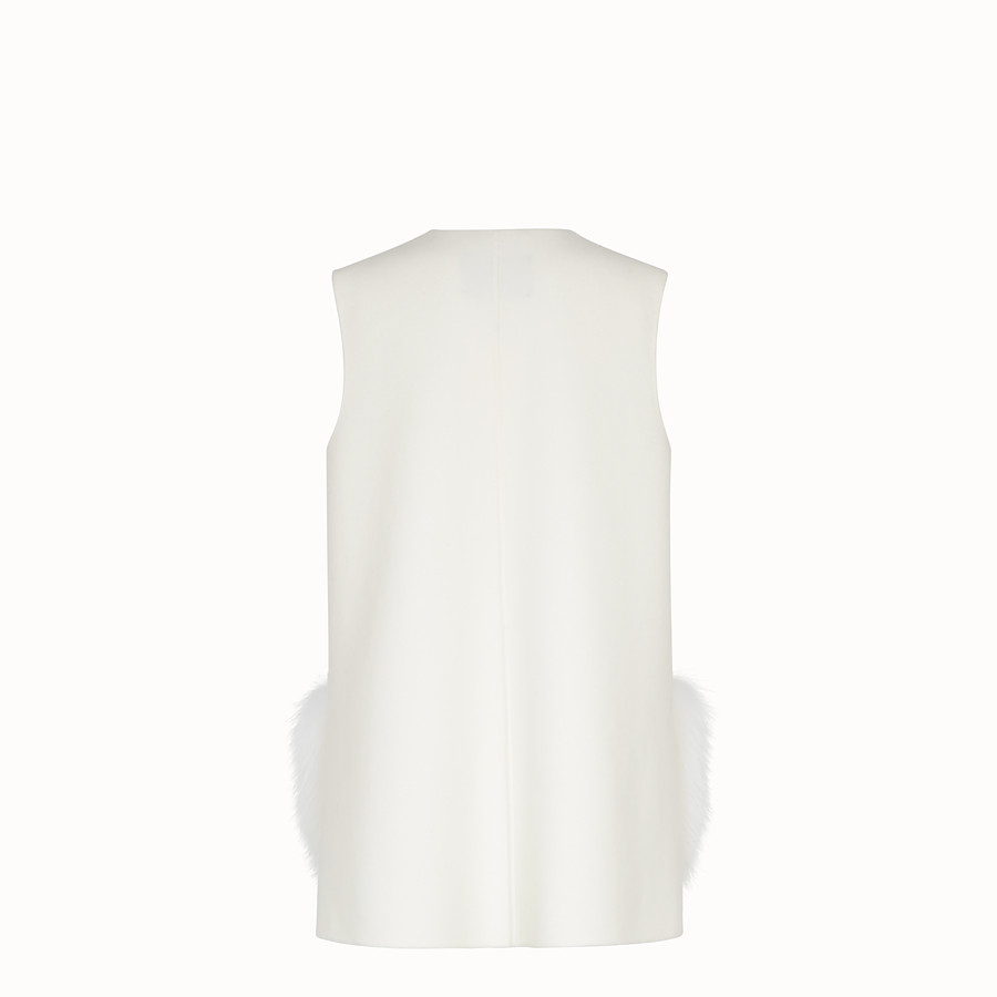 FENDI GILET - White wool gilet - view 2 detail