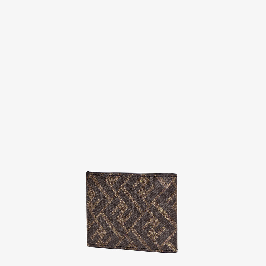 FENDI US DOLLAR WALLET - Brown fabric bi-fold - view 2 detail