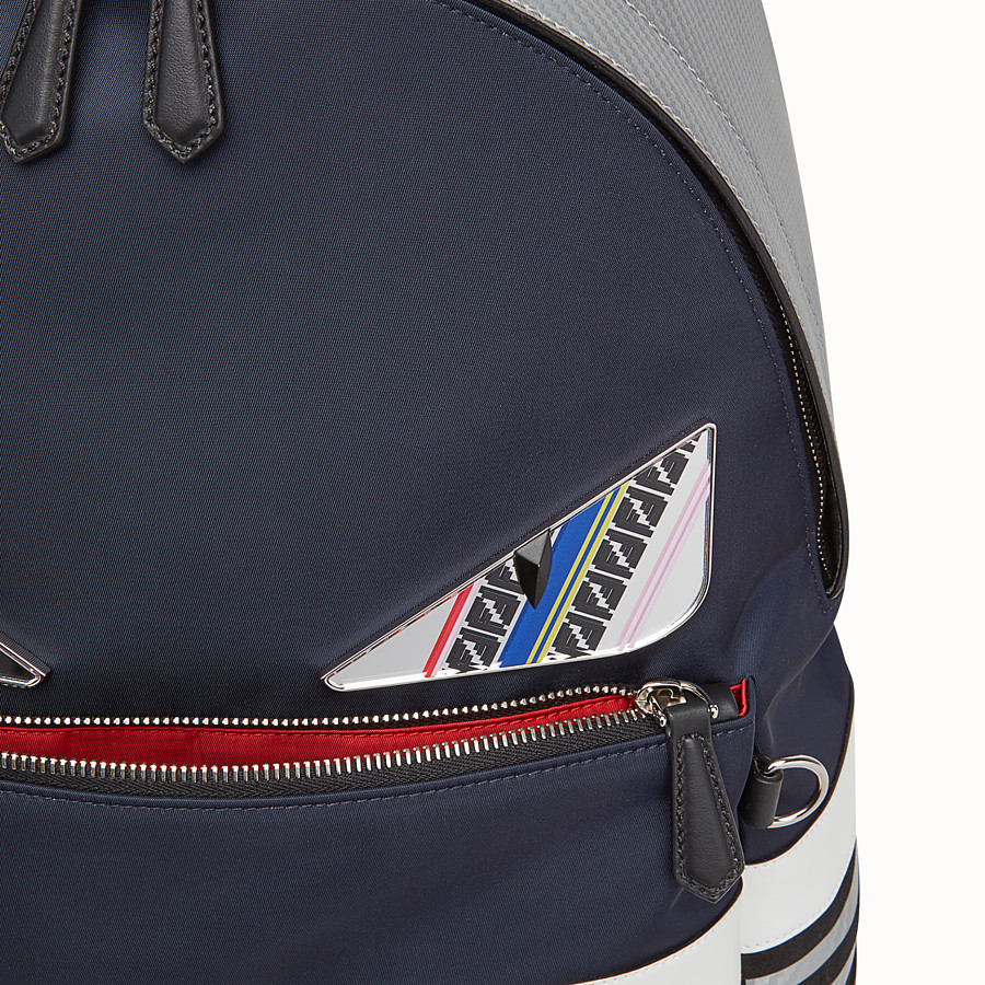 FENDI BACKPACK - Multicolored nylon and leather backpack - view 4 detail
