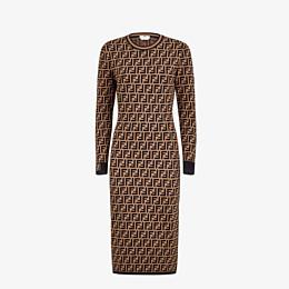 FENDI DRESS - Brown viscose dress - view 1 thumbnail