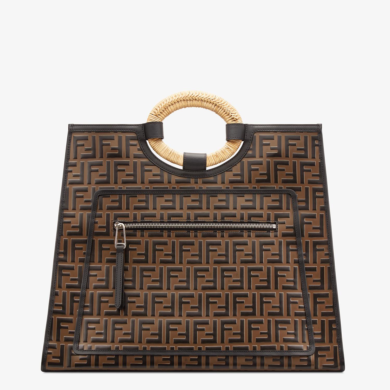 FENDI RUNAWAY SHOPPER - Multicolor leather shopper - view 1 detail