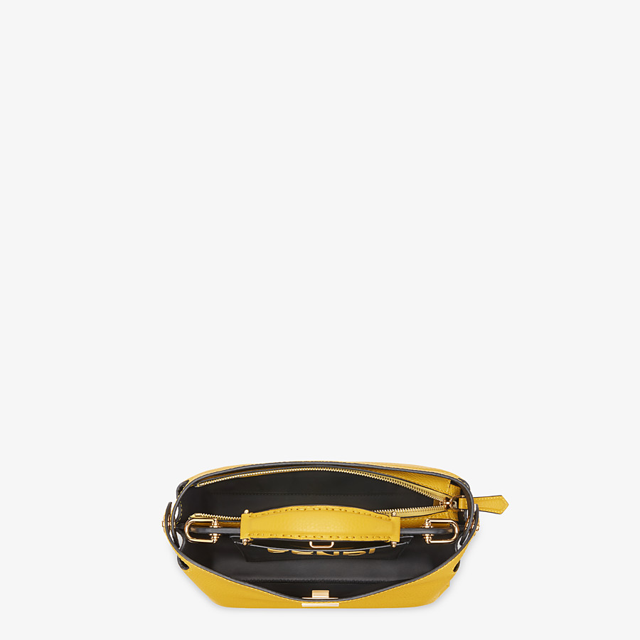FENDI PEEKABOO ICONIC ESSENTIALLY - Yellow leather bag - view 4 detail