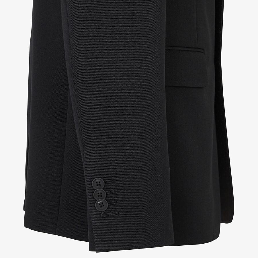 FENDI JACKET - Black wool blazer - view 3 detail