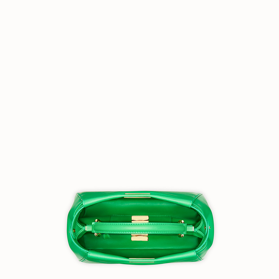 FENDI PEEKABOO ICONIC MINI - Green nappa leather bag - view 4 detail