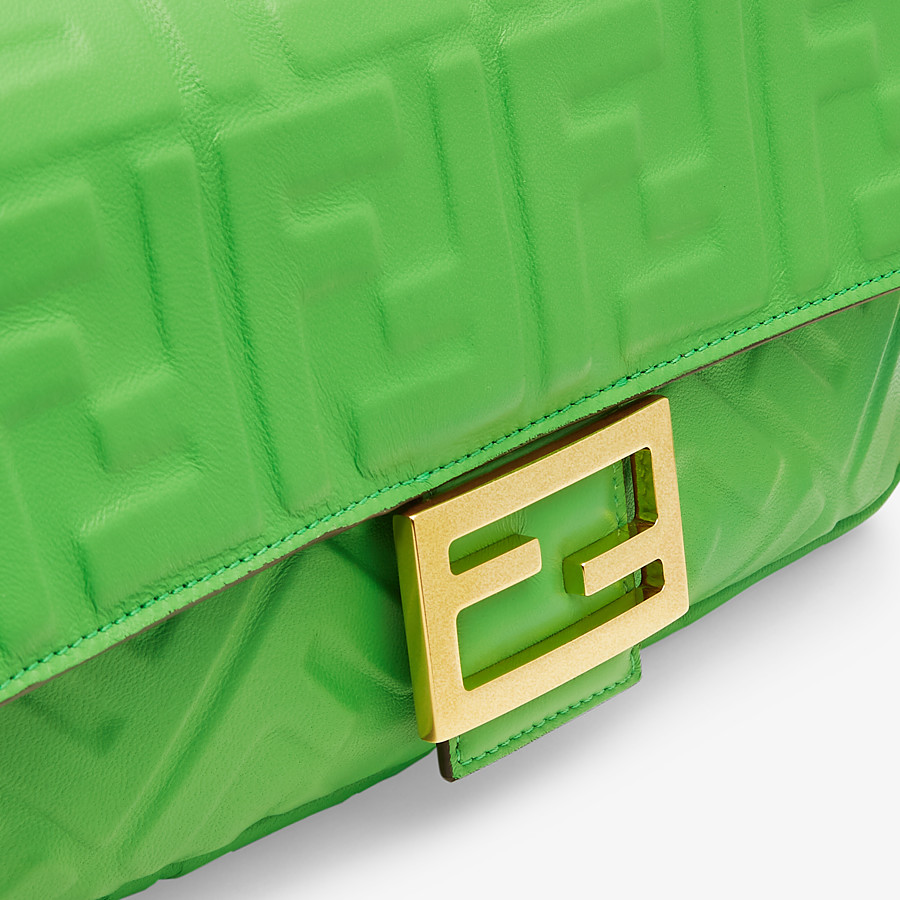 FENDI BAGUETTE - Green nappa leather bag - view 6 detail