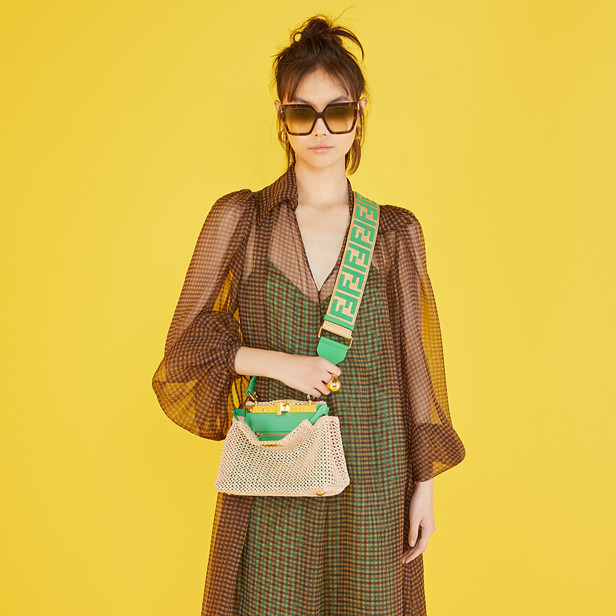 FENDI F IS FENDI - FF Havana acetate and metal sunglasses - view 4 detail