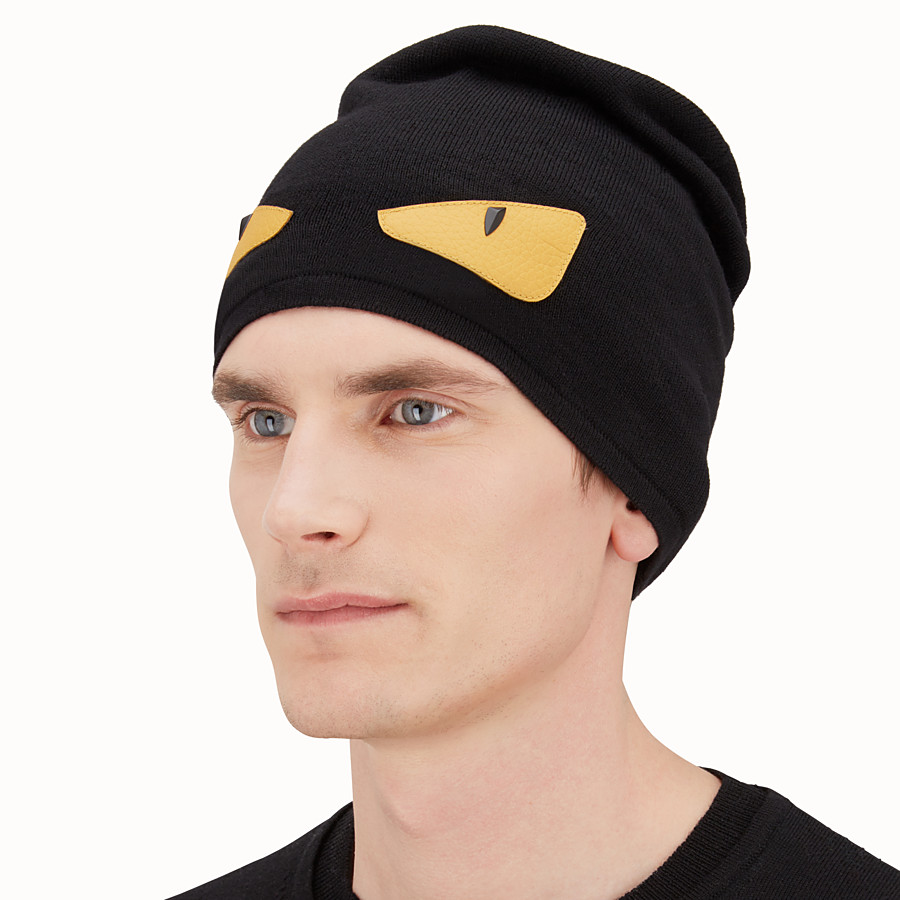 Bag Bugs hat in black wool - HAT  65e828d2cac4