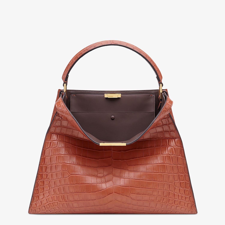 FENDI PEEKABOO X-LITE LARGE - Red crocodile leather bag - view 2 detail