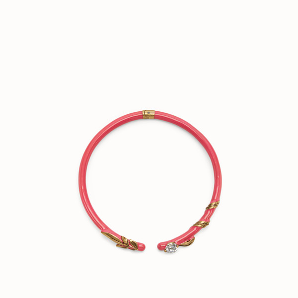FENDI JULIUS CAESAR CHOKER - Fuchsia and gold coloured necklace - view 1 small thumbnail