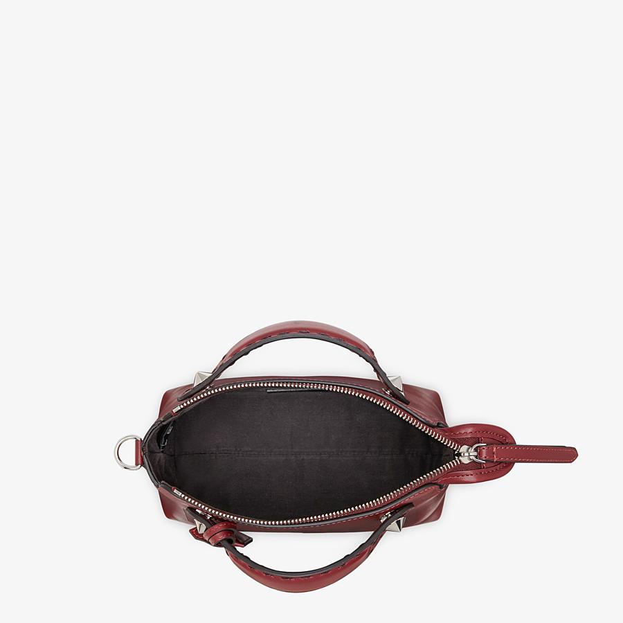 FENDI BY THE WAY MINI - Burgundy leather Boston bag - view 5 detail