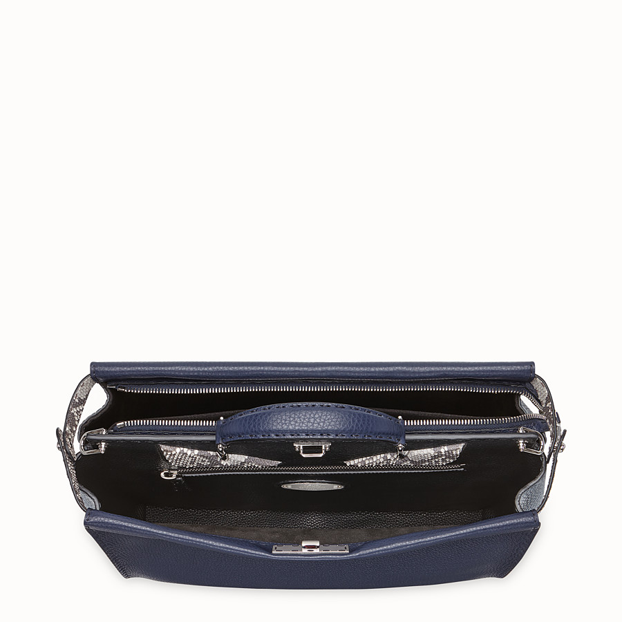 FENDI PEEKABOO MEDIUM - Blue Romano leather bag - view 4 detail