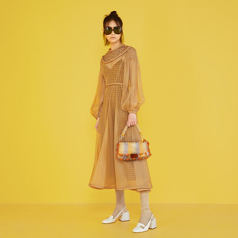 FENDI DRESS - Vichy organza dress - view 4 detail