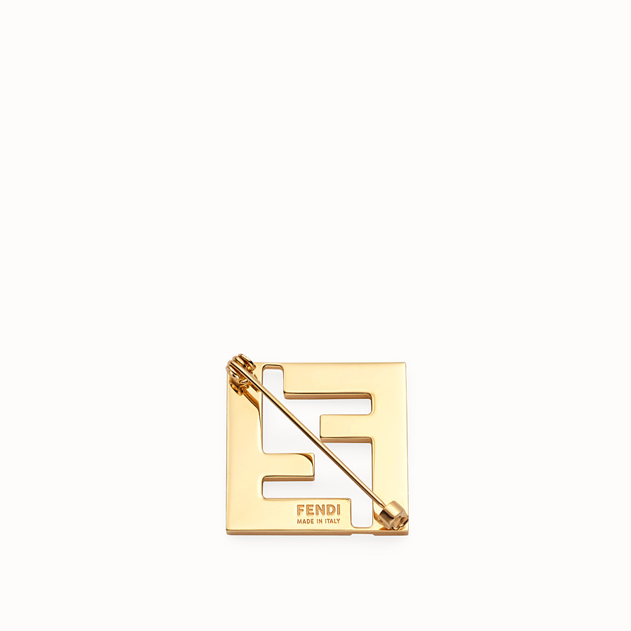 FENDI FF BROOCH - White metal brooch - view 2 detail
