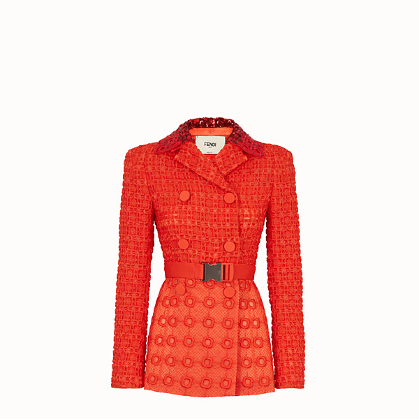 FENDI VESTE - Blazer en organza orange - view 1 small thumbnail