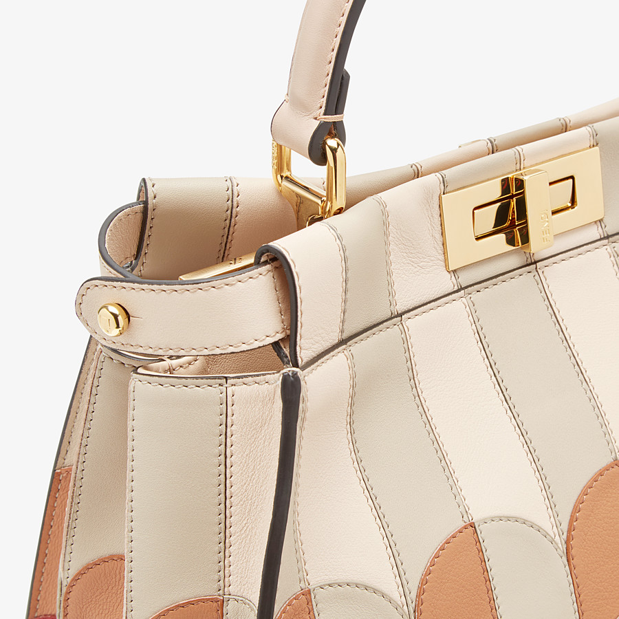 FENDI PEEKABOO ICONIC MEDIUM - Pink leather bag - view 5 detail