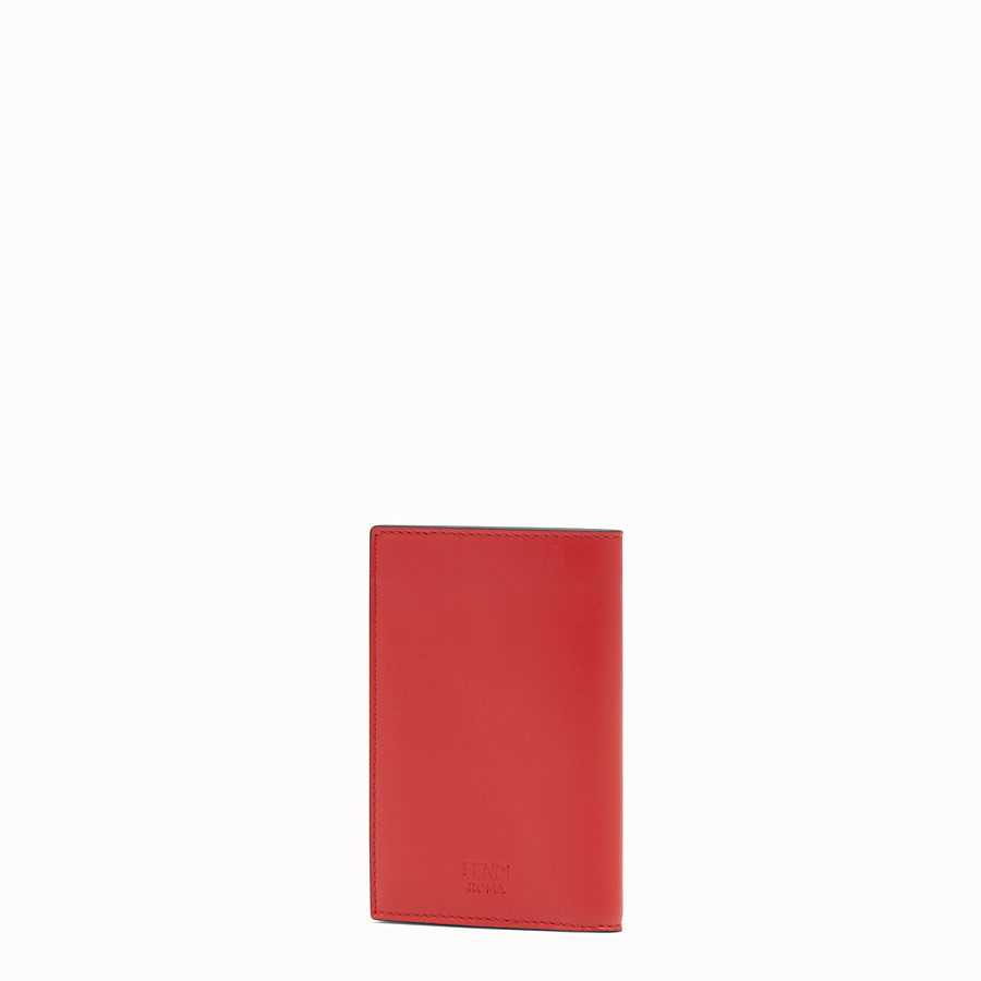 FENDI CARD HOLDER - Red leather wallet - view 2 detail