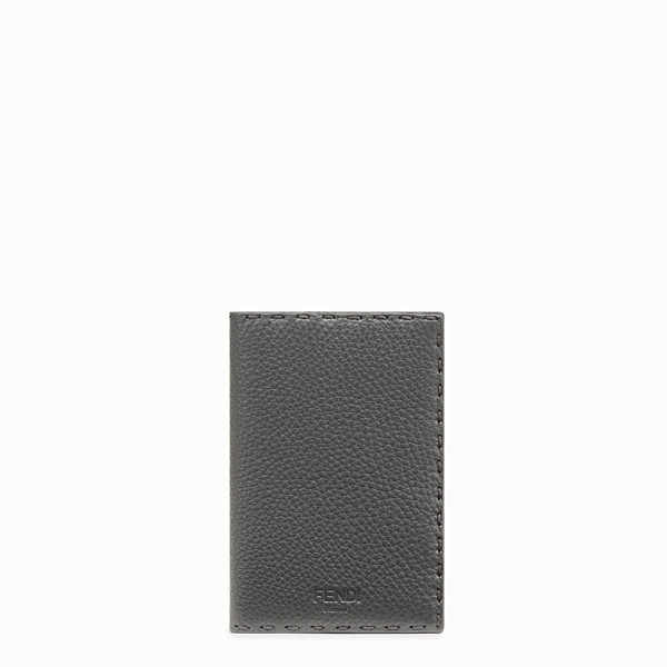 FENDI PASSPORT COVER - Grey leather passport cover - view 1 small thumbnail