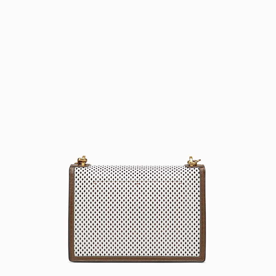 FENDI KAN U - White leather bag - view 4 detail
