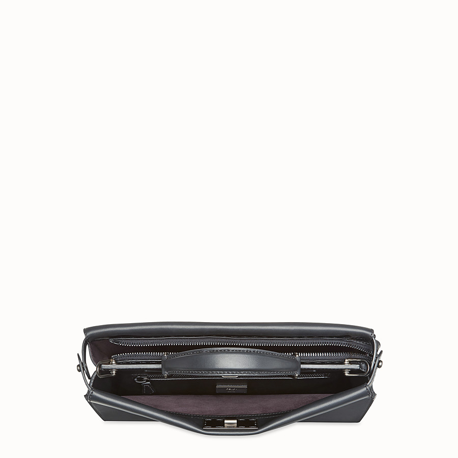 FENDI PEEKABOO FIT - Smooth black leather bag - view 4 detail