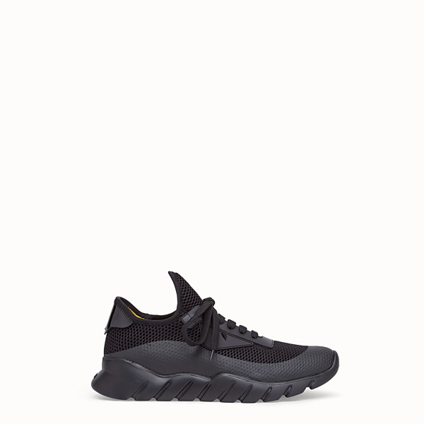FENDI SNEAKERS - Black tech mesh running shoes - view 1 small thumbnail