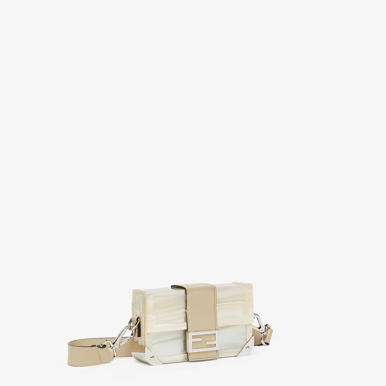 FENDI BAGUETTE TRUNK MINI - Mother of pearl plexiglass bag - view 2 detail