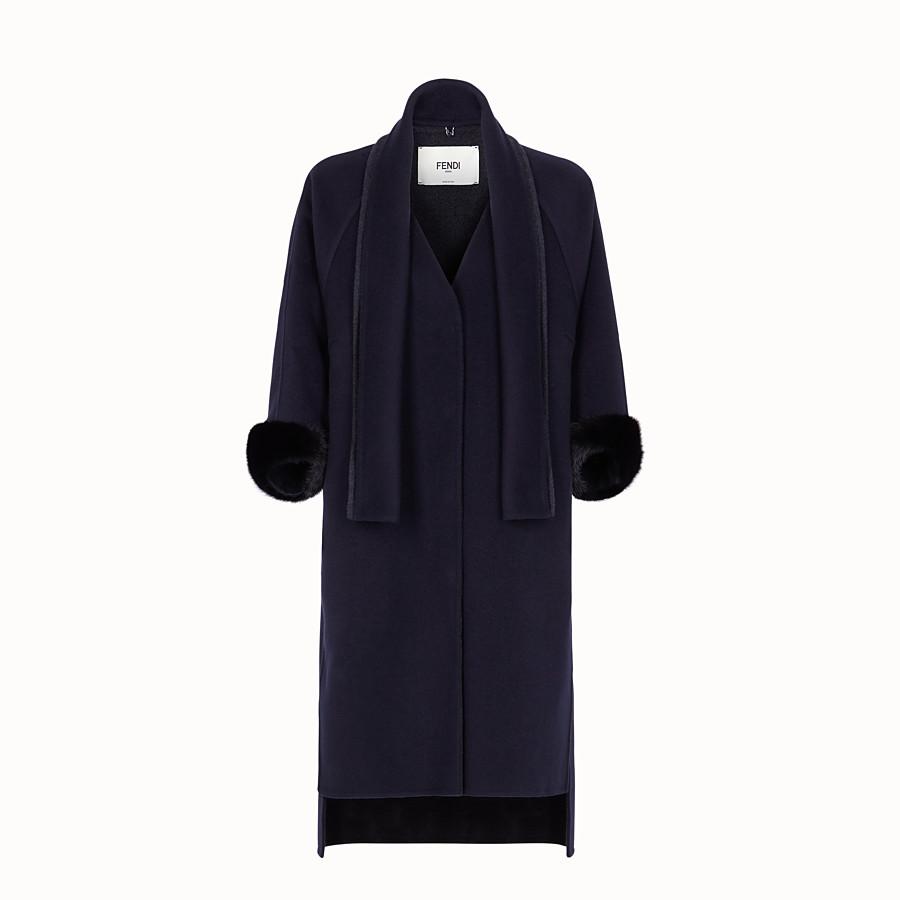 FENDI COAT - Blue cashmere coat - view 1 detail