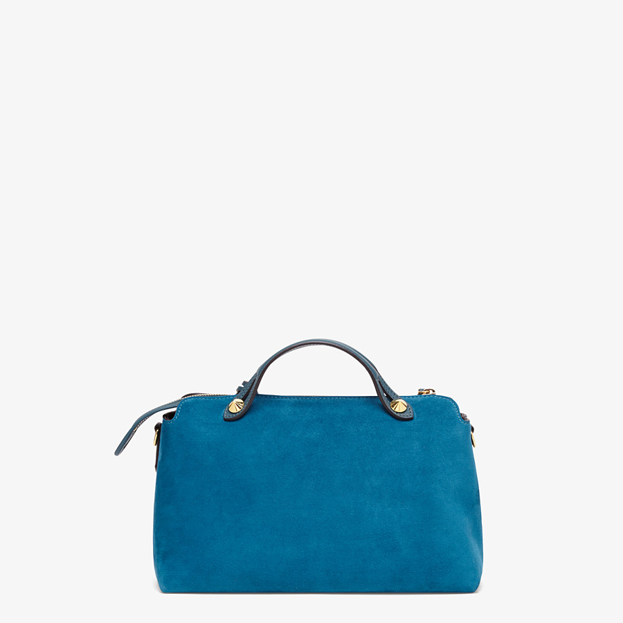 FENDI BY THE WAY MEDIUM - Blue suede Boston bag - view 3 detail