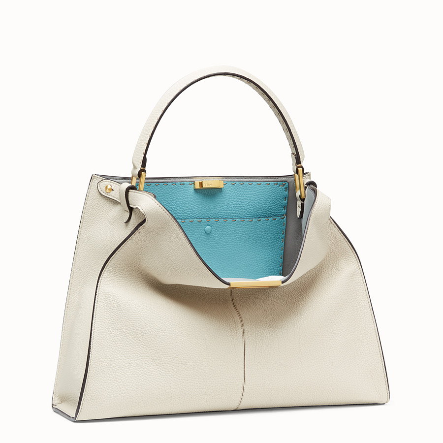 FENDI PEEKABOO X-LITE - Fendi Roma Amor leather bag - view 4 detail