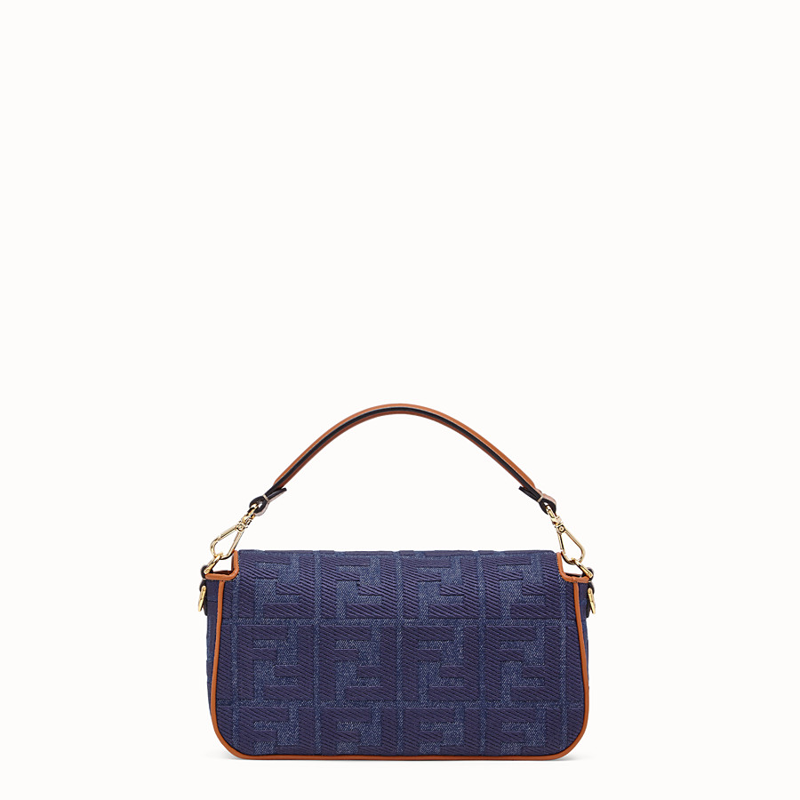 FENDI BAGUETTE - Tasche aus Denim in Blau - view 4 detail