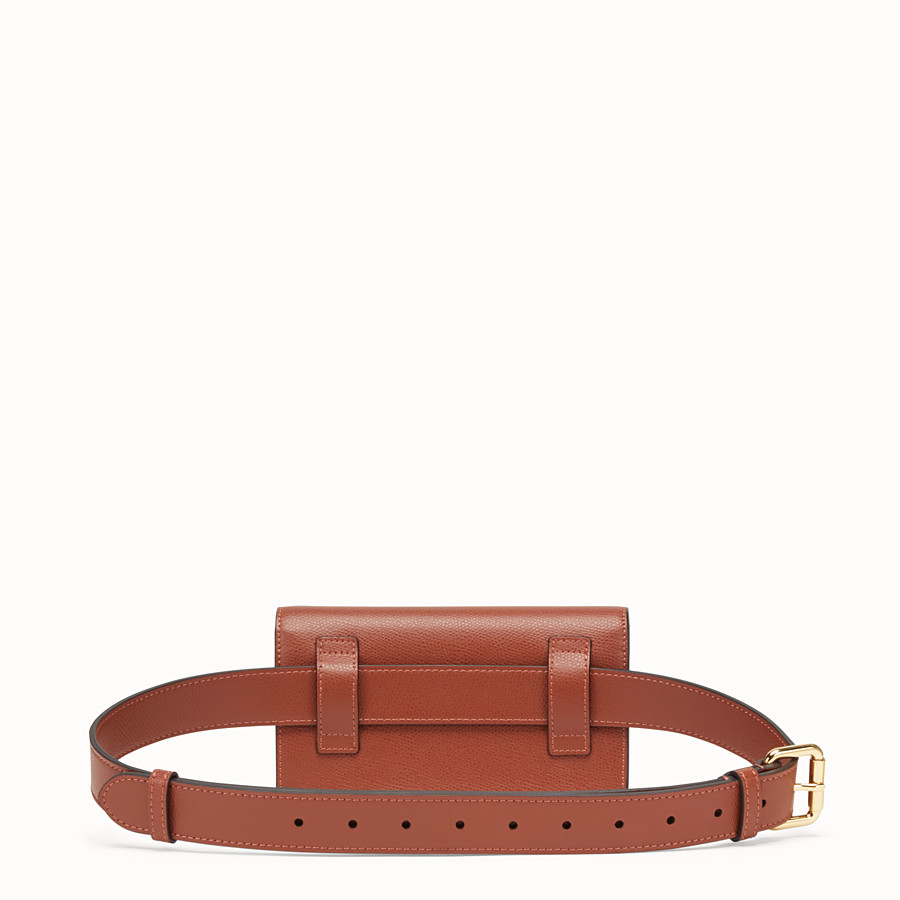 FENDI BELT BAG - Brown leather belt bag - view 3 detail
