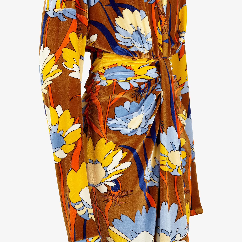 FENDI DRESS - Multicolor chenille dress - view 3 detail