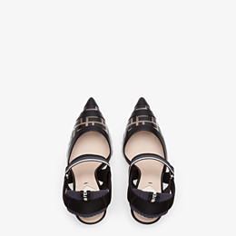 FENDI SLINGBACKS - Slingbacks in PU and black leather - view 4 thumbnail