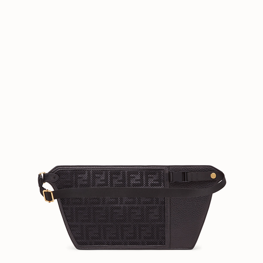 FENDI POUCH - Black leather cross-body bag - view 3 detail