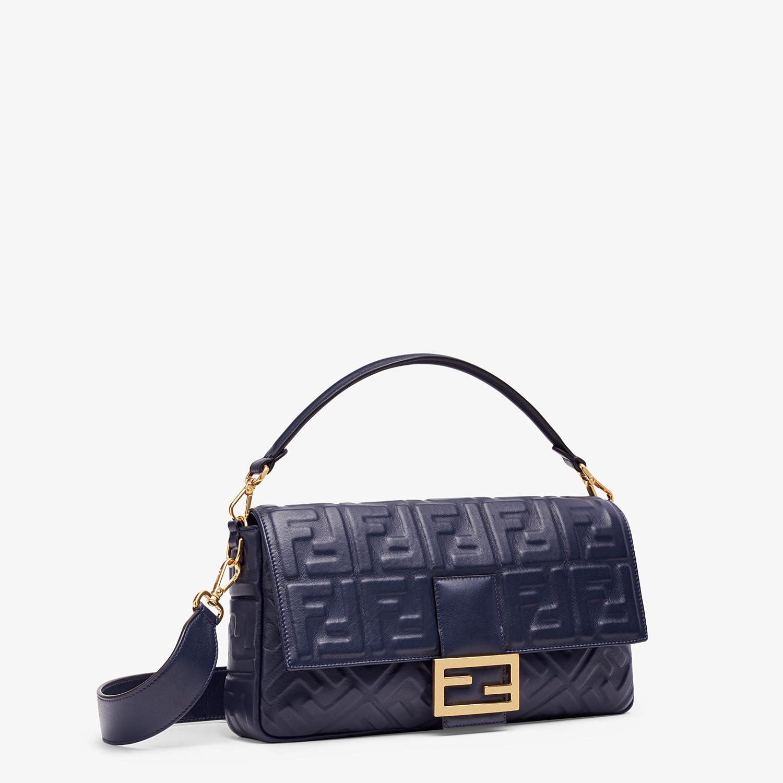 FENDI BAGUETTE LARGE - Blue nappa leather bag - view 2 detail