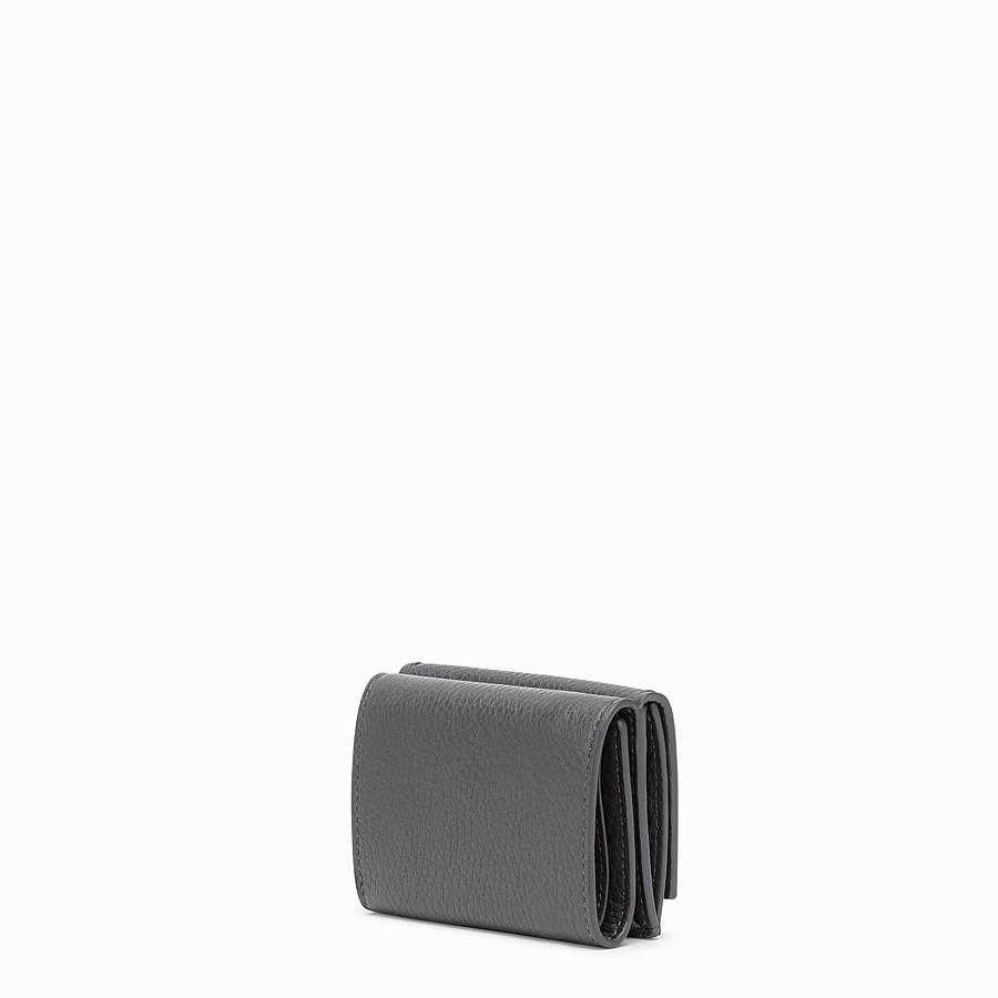 FENDI MICRO TRIFOLD - Grey leather wallet - view 2 detail