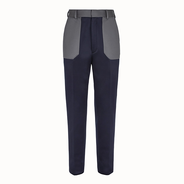 FENDI TROUSERS - Multicolour jersey trousers - view 1 small thumbnail