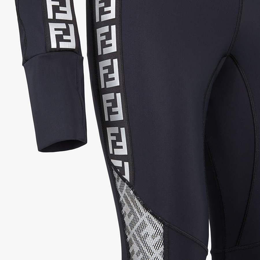 FENDI JUMPSUIT - Black stretch fabric running tracksuit - view 3 detail