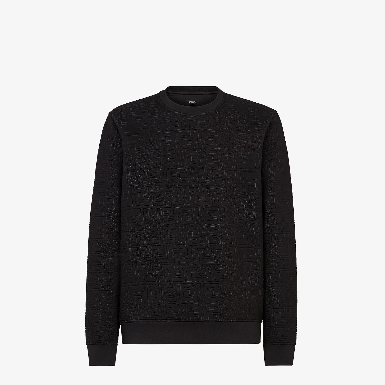 FENDI SWEATSHIRT - Black neoprene sweatshirt - view 1 detail