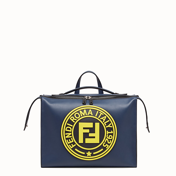 FENDI LUI BAG - Borsa in pelle blu - vista 1 thumbnail piccola