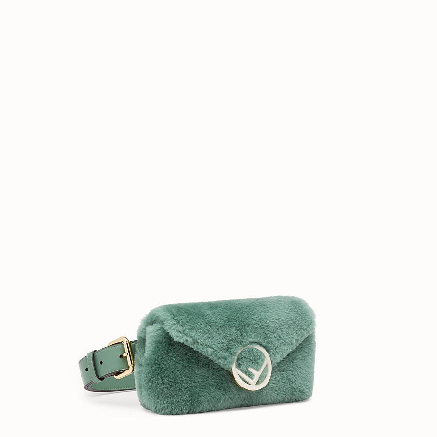 FENDI BELT BAG - Green sheepskin belt bag - view 2 detail