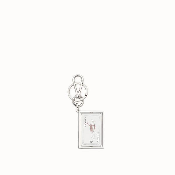 FENDI KEY RING - Silver-colored metal key ring - view 1 small thumbnail