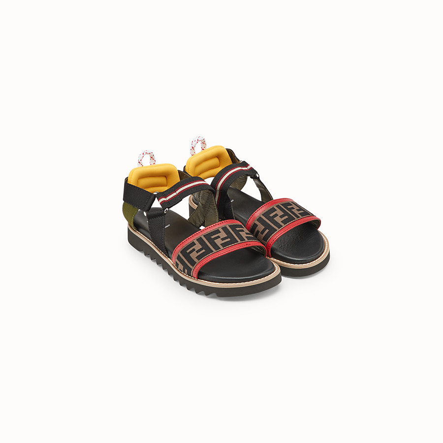 FENDI SANDALS - Black neoprene sandals - view 2 detail
