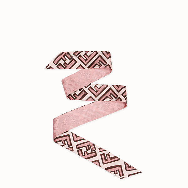 FENDI WRAPPY - Bandeau in seta rosa - vista 1 thumbnail piccola