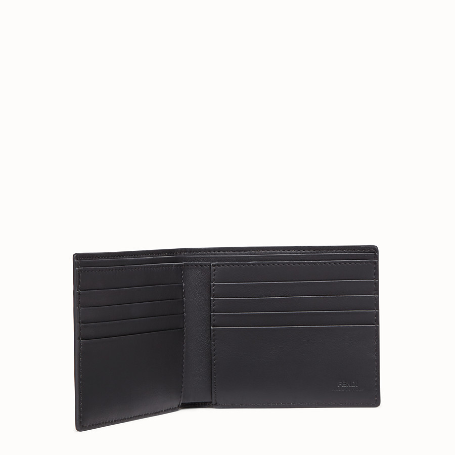 FENDI WALLET - Brown leather bi-fold wallet - view 3 detail