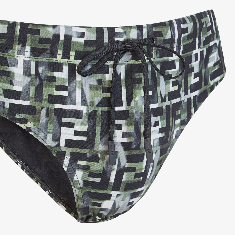 FENDI SWIM BRIEFS - Multicolour Lycra® swimsuit - view 3 detail